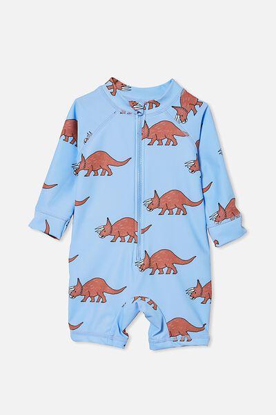 Cameron Long Sleeve Swimsuit, DUSK BLUE/RHINO