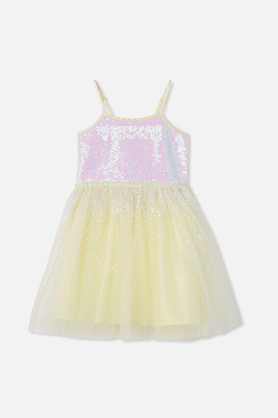 Iris Dress Up Dress, LEMONADE/RAINBOW GRADIENT