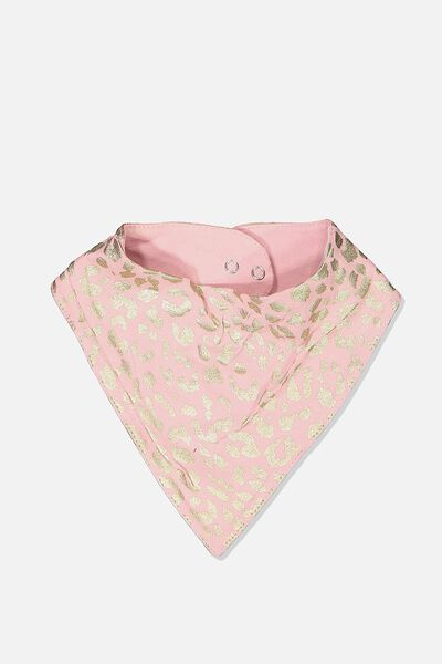 The Kerchief Bib, SWEET BLUSH/FOIL OCELOT