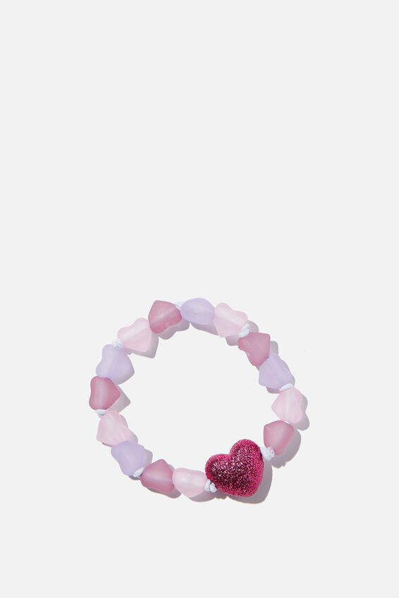 Mixed Beaded Bracelet With Charm, ROSE HEART
