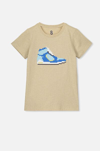 Max Skater Short Sleeve Tee, SEMOLINA/SHOES