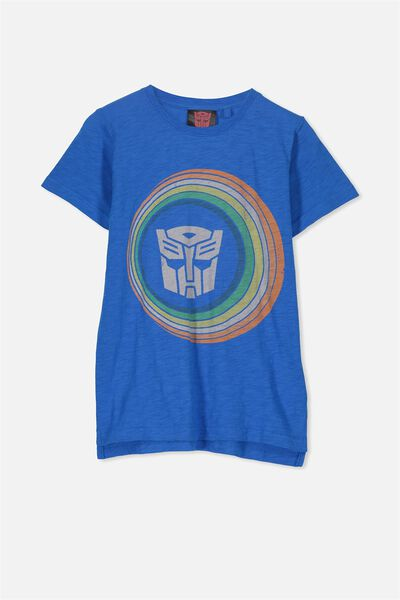 Short Sleeve License Tee, MALIBU BLUE/RAINBOW TRANSFORMERS