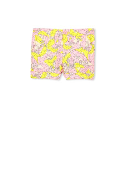 Cassie Printed Short, MEAGHAN PINK/TROPICAL