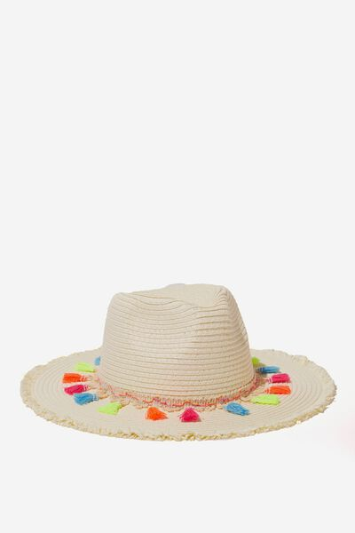 Floppy Hat, NEW VANILLA/TASSEL
