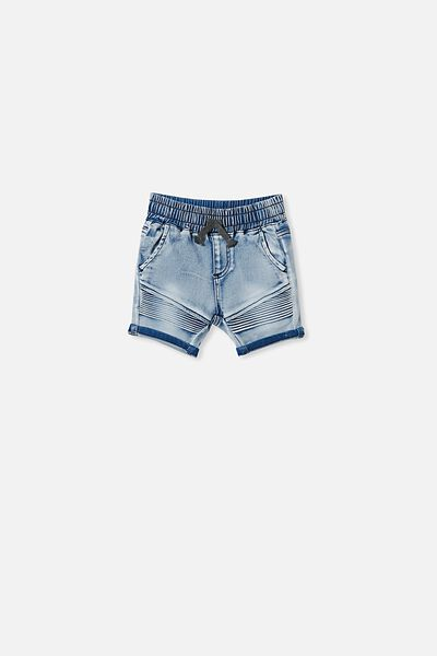 Jay Moto Short, LIGHT BLUE WASH