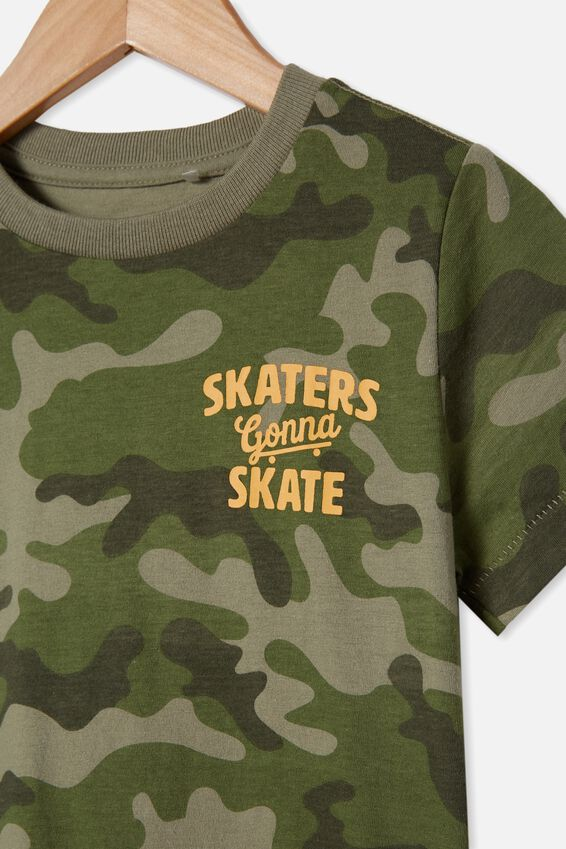 Max Short Sleeve Tee, CAMO/SKATERS GONNA SKATE