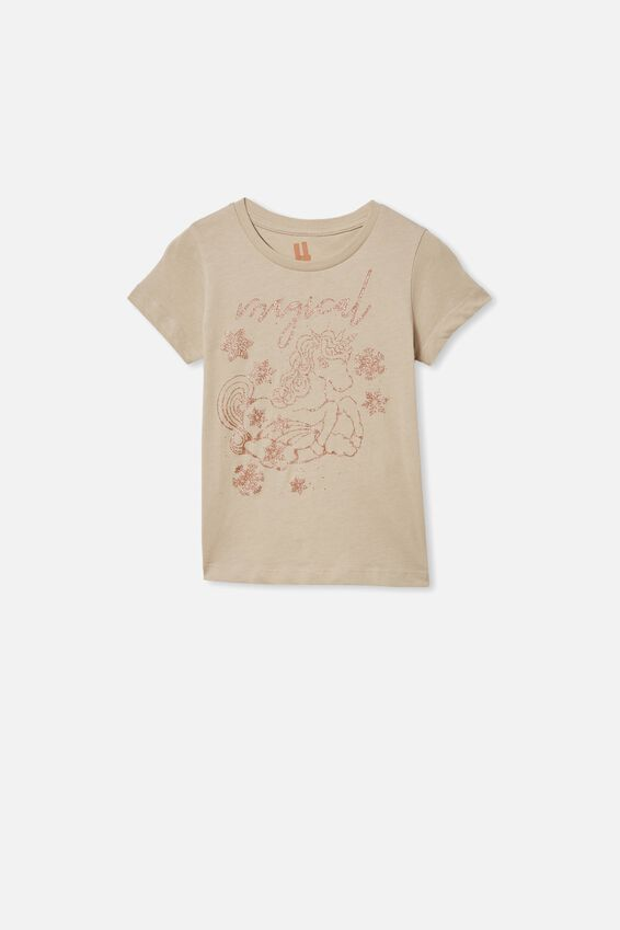Penelope Short Sleeve Tee, RAINY DAY/MAGICAL UNICORN