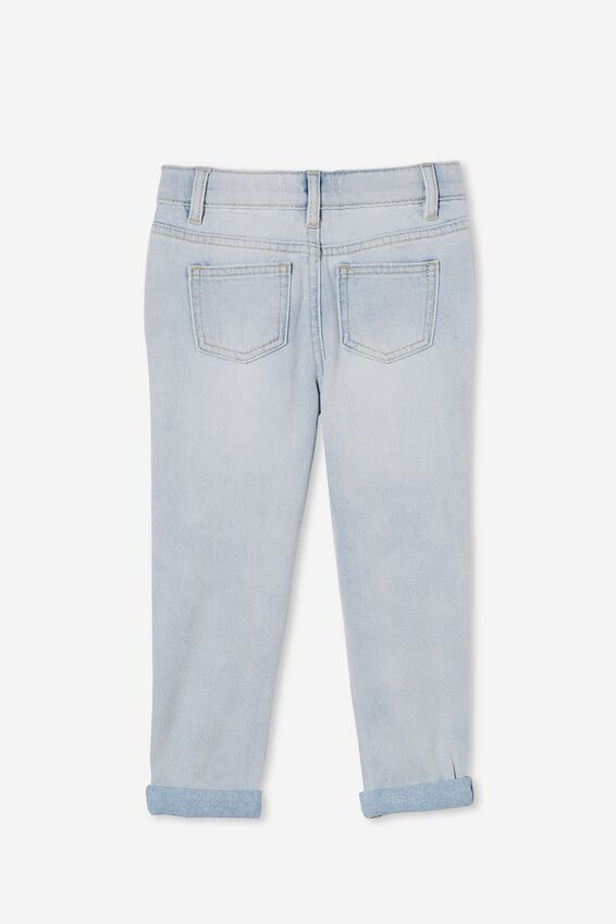 India Slouch Jean, BLEACH WASH/CONTRAST FLORAL