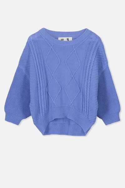 Deonne Knit Jumper, CORNFLOWER BLUE