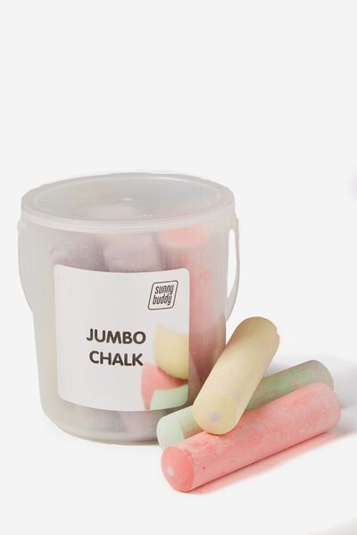 12Pce Jumbo Sidewalk Chalk, COLOUR