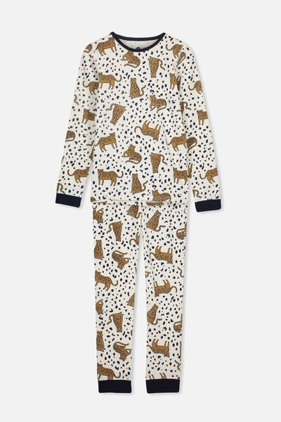 Harrison Long Sleeve Boys Pyjamas, SITTING LEOPARD