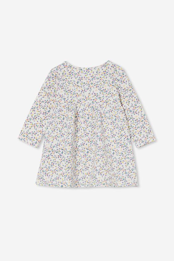 Molly Long Sleeve Dress, CRYSTAL PINK/FUSCHIA POP SOMERSET FLORAL