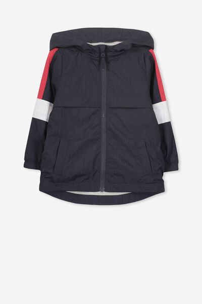Houston Spray Jacket, NAVY/RED SPLICE