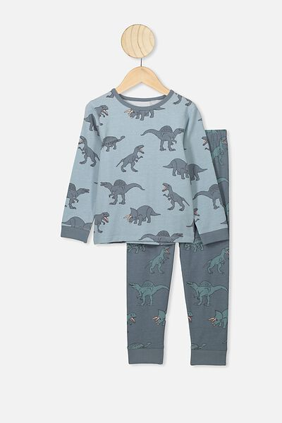 Orlando Long Sleeve Pj Set, ETHER/DINO YARDAGE