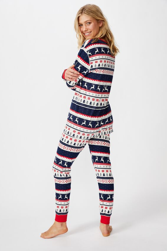 Personalised Jo Unisex Pj Set, XMAS FAIRISLE PERSONALISED