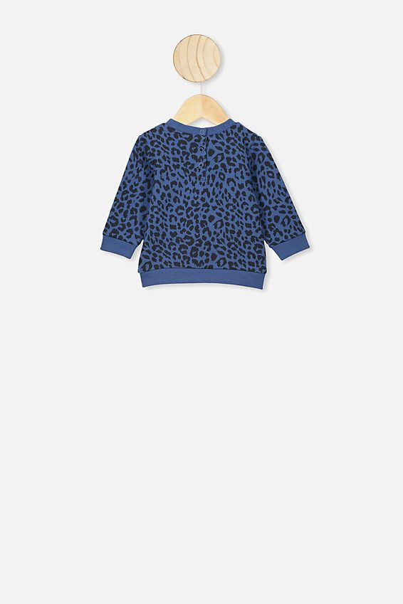 Bobbi Sweater, PETTY BLUE SUMMER OCELOT