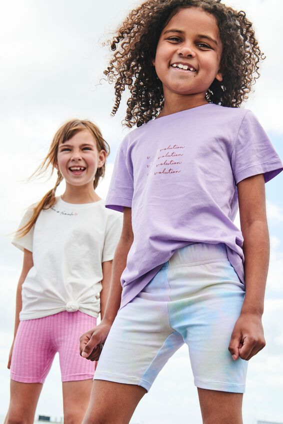 Penelope Short Sleeve Tee, SUMMER VIOLET/REVOLUTION