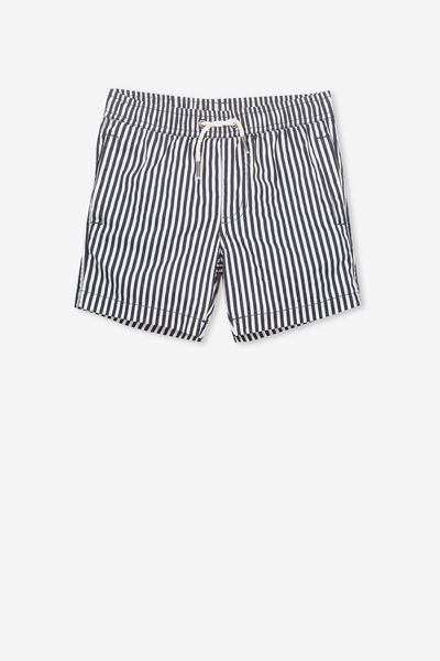 Murphy Swim Short, WHITE/VERTICAL NAVY STRIPE