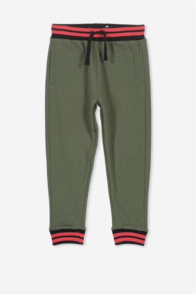 Lewis Trackpant, ARMY GREEN/STRIPE WB