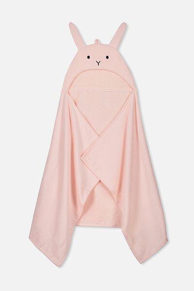 Baby Snuggle Towel, PINK RABBIT