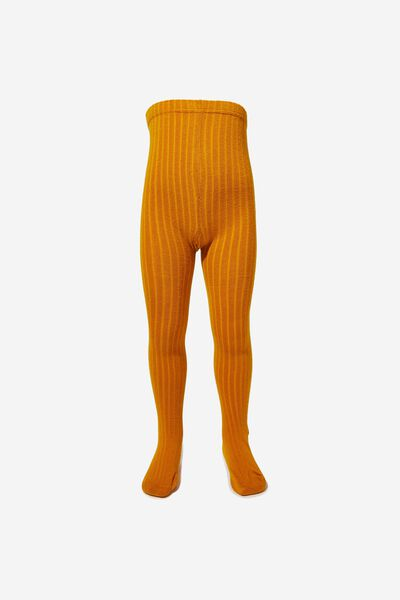 Ribbed Solid Tight, GOLDEN ROD