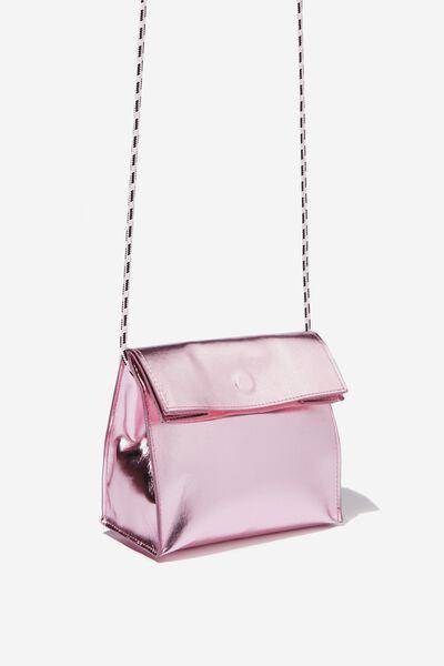Crossbody Sling Bag, PINK METALLIC