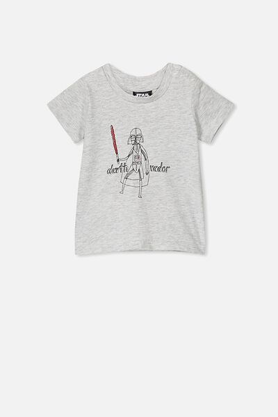Jamie Short Sleeve Tee, LCN LU CLOUD MARLE/DARTH VADER