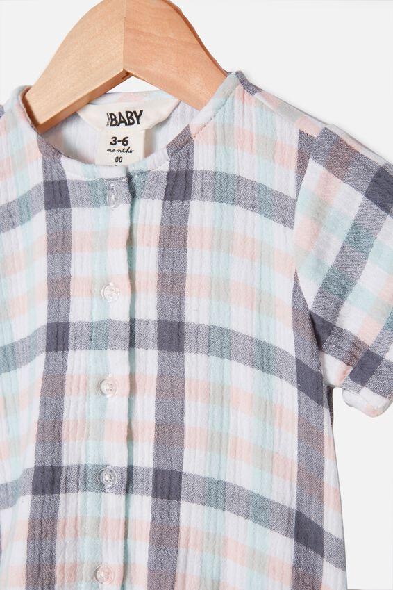 Mike Short Sleeve Shirt, NAVY BLAZER/KEANAN CHECK