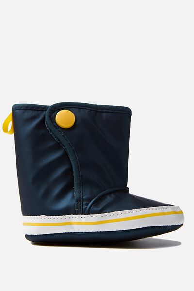 Mini Rain Bootie, NAVY/YELLOW