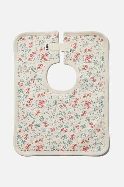 The Darcey Square Bib, DARK VANILLA/MAUDE FLORAL