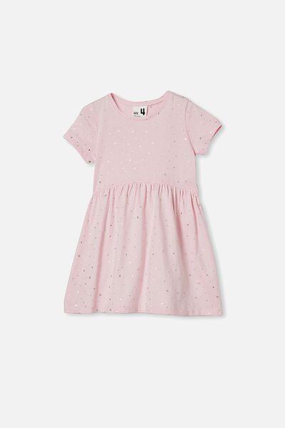 Freya Short Sleeve Dress, PINK QUARTZ/STARS