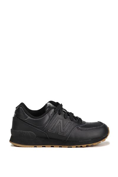 574 Youth Lace Up New Balance 4F7, KL574G9P BLACK