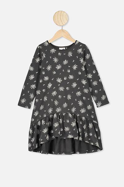 Joss Long Sleeve Dress, PHANTOM/POSEY FLORAL