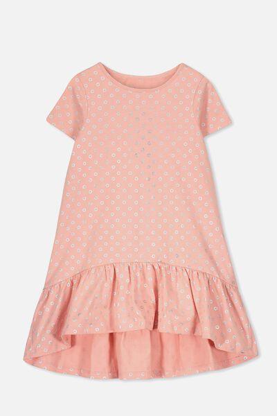 Joss Short Sleeve Dress, TANGO DREAM/SPOT DITSY