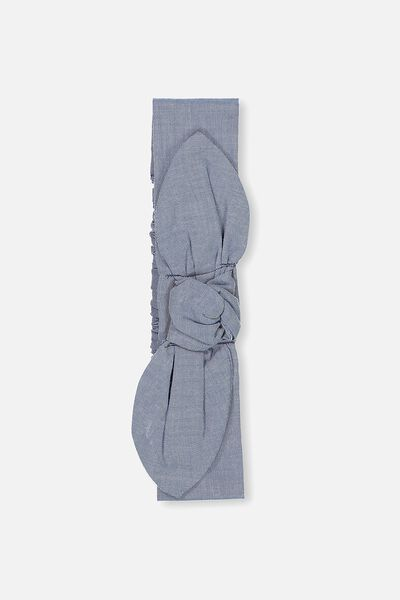 Baby Knotted Headband, CHAMBRAY