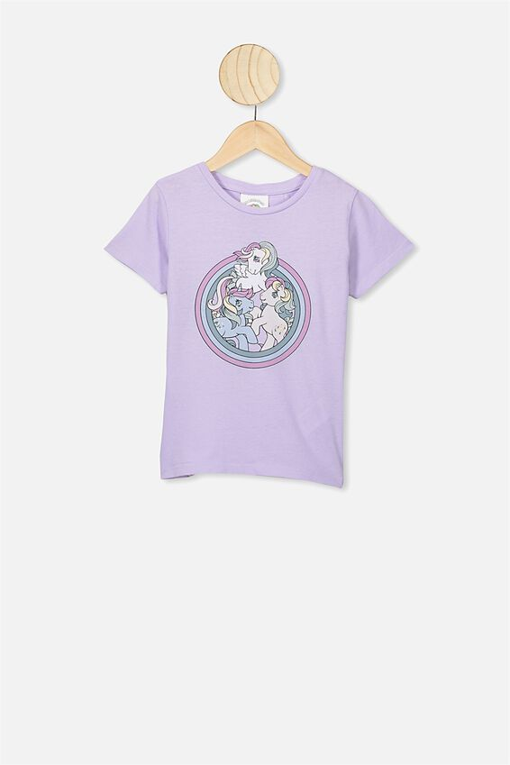 Lux Short Sleeve Tee, LCN HAS VINTAGE LILAC/MY LITTLE PONY TRIO