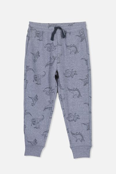 Lewis Trackpant, DENIM MARLE/DINOSAURS