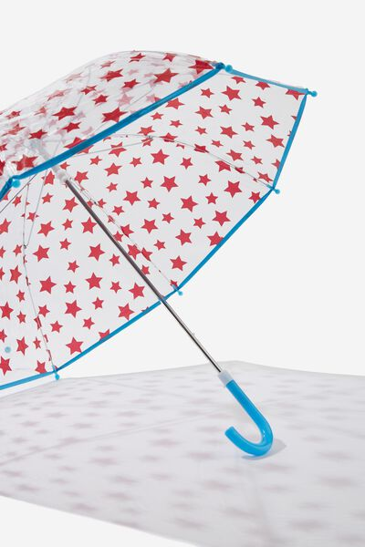 Kids Cloudburst Umbrella, RED STARS