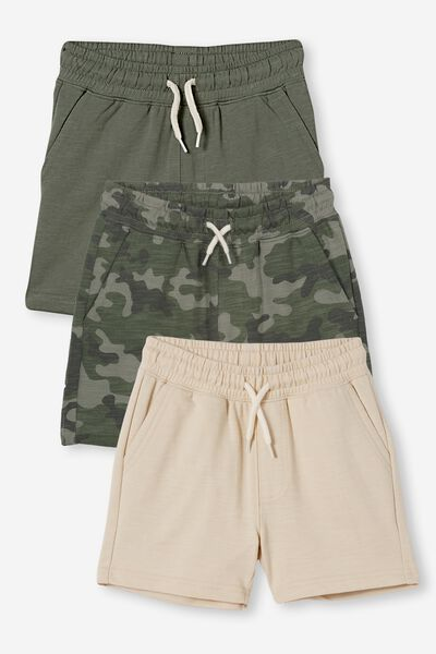 Multipack Henry Short Three Pack, SWAG GREEN/CAMO/RAINY DAY
