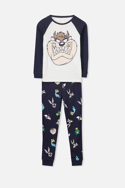 Jacob Boys Long Sleeve Raglan Pyjama Set, LOONEY TUNES/TAZ DEVIL