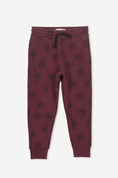 Lewis Trackpant, WINTER GRAPE/SKULLS
