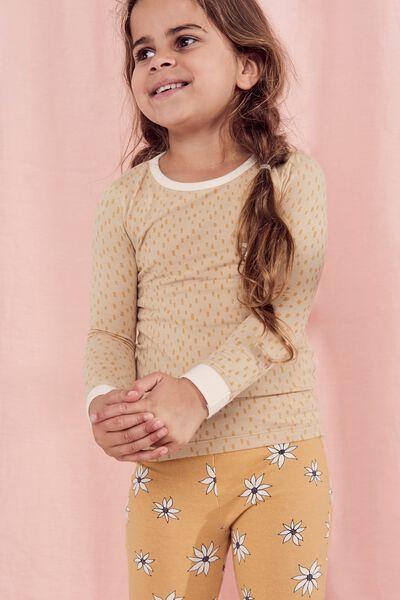 Lila Long Sleeve Pyjama Set, SEMOLINA/FLOWER CHILD