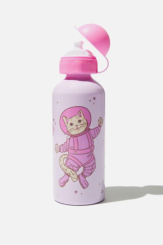 Aluminium Drink Bottle, SPACE CAT