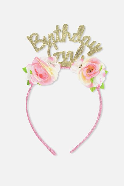 Novelty Headband, BIRTHDAY GIRL