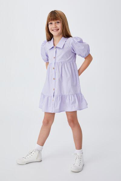 Jamala Short Sleeve Dress, SMOKEY LILAC
