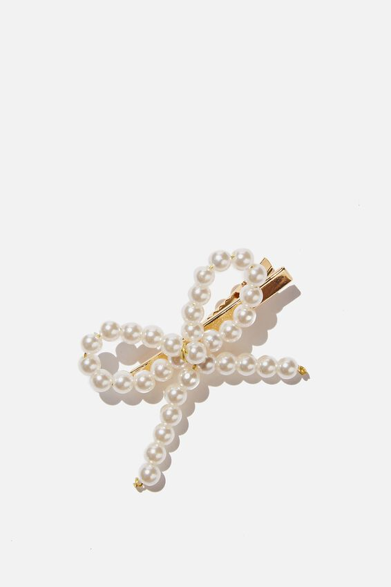 Hair Clip  - Pearly Bow, PEARLY BOW