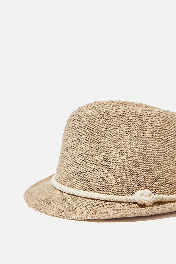 Trilby Hat, NATURAL