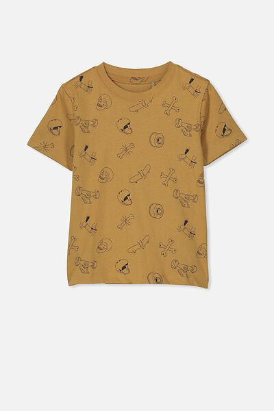17e10ee39a69 Max Skater Short Sleeve Tee, BROKEN SKATE/BURNT BROWN. Cotton On Kids