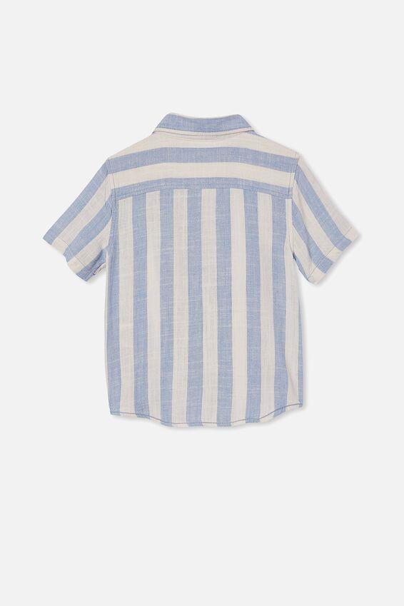 Resort Short Sleeve Shirt, CANDY STRIPE/DUSK BLUE