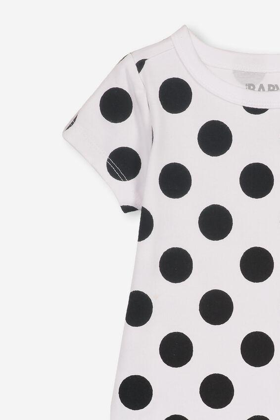 The Short Sleeve Bubbysuit, DANA SPOT WHITE/BLACK